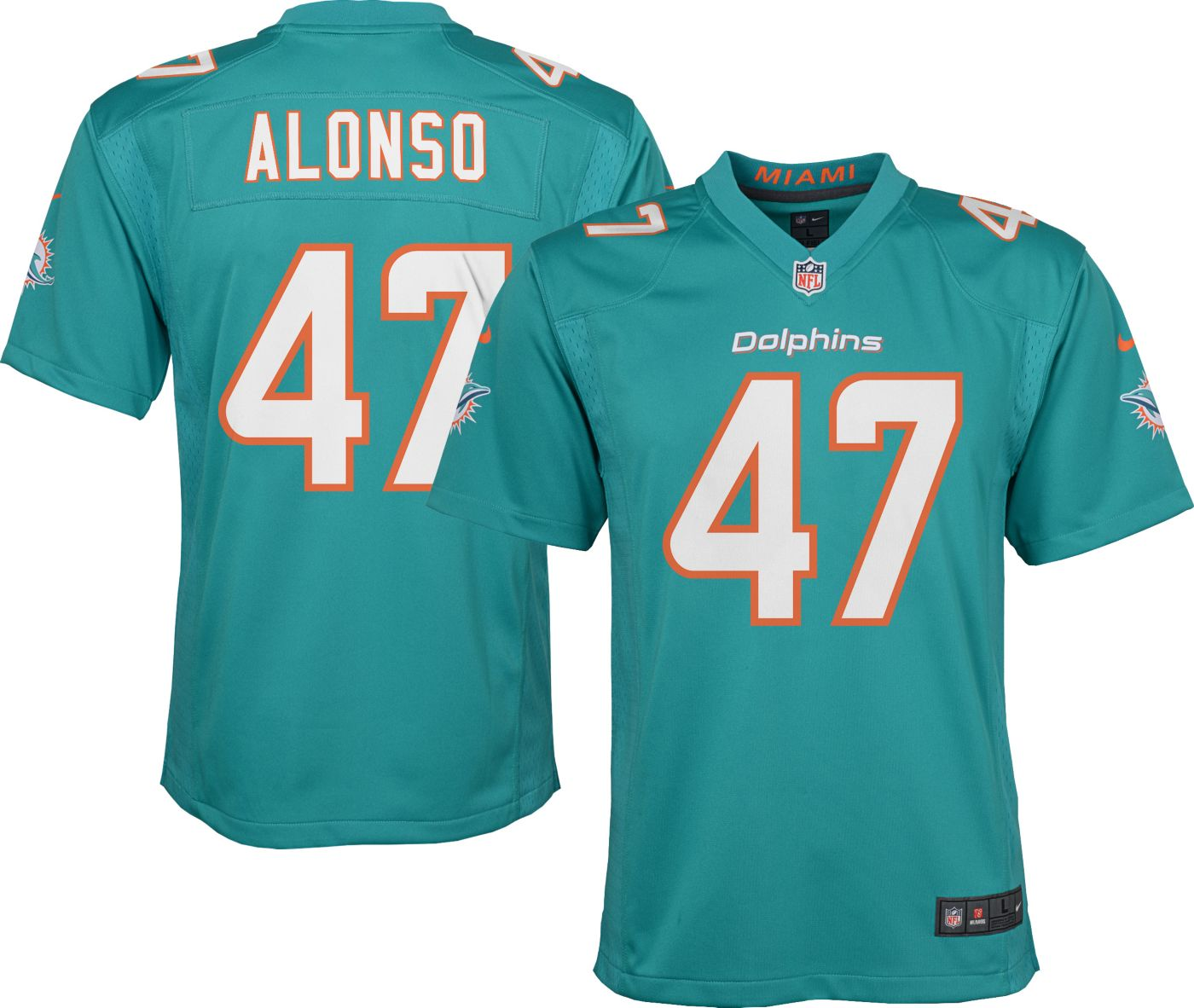 Nike Youth Home Game Jersey Miami Dolphins Kiko Alonso #47
