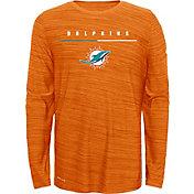 Nike Youth Miami Dolphins Sideline Legend Velocity Orange Long Sleeve Shirt