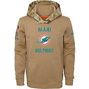 Nike Youth Salute to Service Miami Dolphins Therma-FIT Beige Hoodie