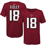 Nike Youth Atlanta Falcons Calvin Ridley #18 Logo Red T-Shirt