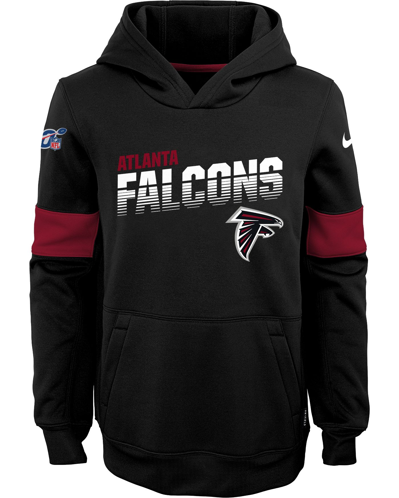 Nike Youth Atlanta Falcons 100th Sideline Therma-FIT Red Pullover Hoodie