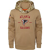 Nike Youth Salute to Service Atlanta Falcons Therma-FIT Beige Camo Hoodie