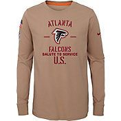 Nike Youth Salute to Service Atlanta Falcons Dri-FIT Beige Long Sleeve Shirt