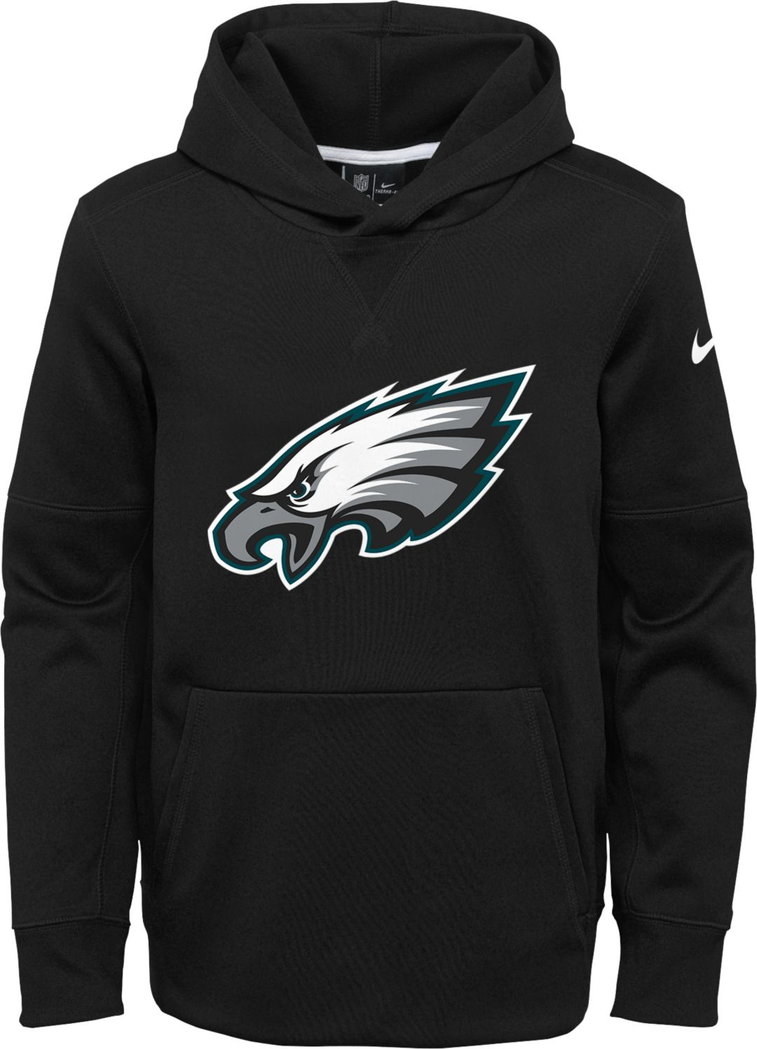 best sneakers b56b6 f2954 Nike Youth Philadelphia Eagles Logo Essential Black Hoodie