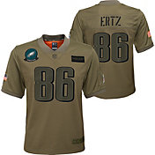 Nike Youth Salute to Service Philadelphia Eagles Zach Ertz #86 Olive Game Jersey