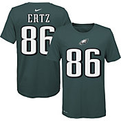 Nike Youth Philadelphia Eagles Zach Ertz #86 Logo Green T-Shirt