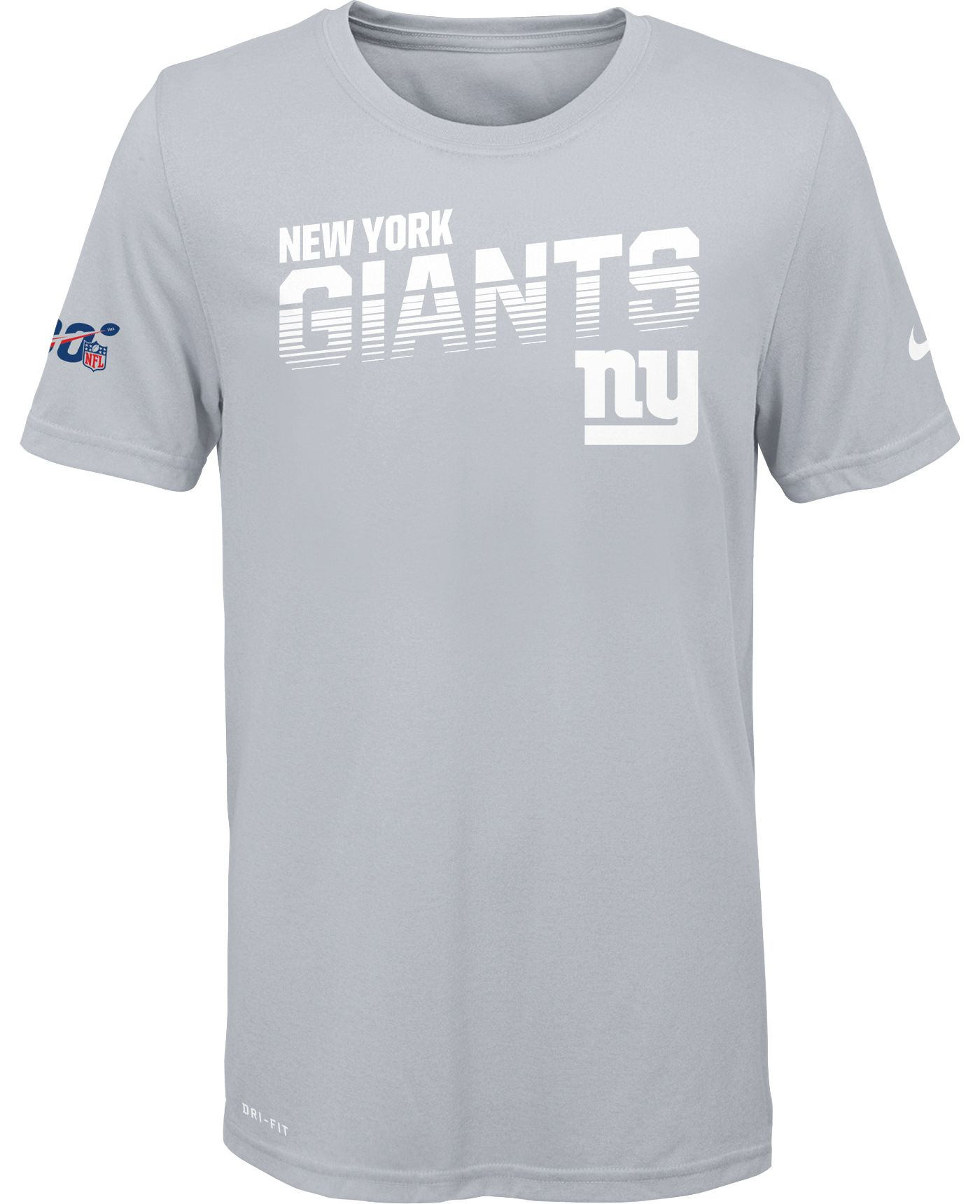 Nike Youth New York Giants 100th Sideline Legend Performance White T-Shirt