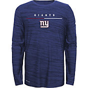 Nike Youth New York Giants Sideline Legend Velocity Royal Long Sleeve Shirt