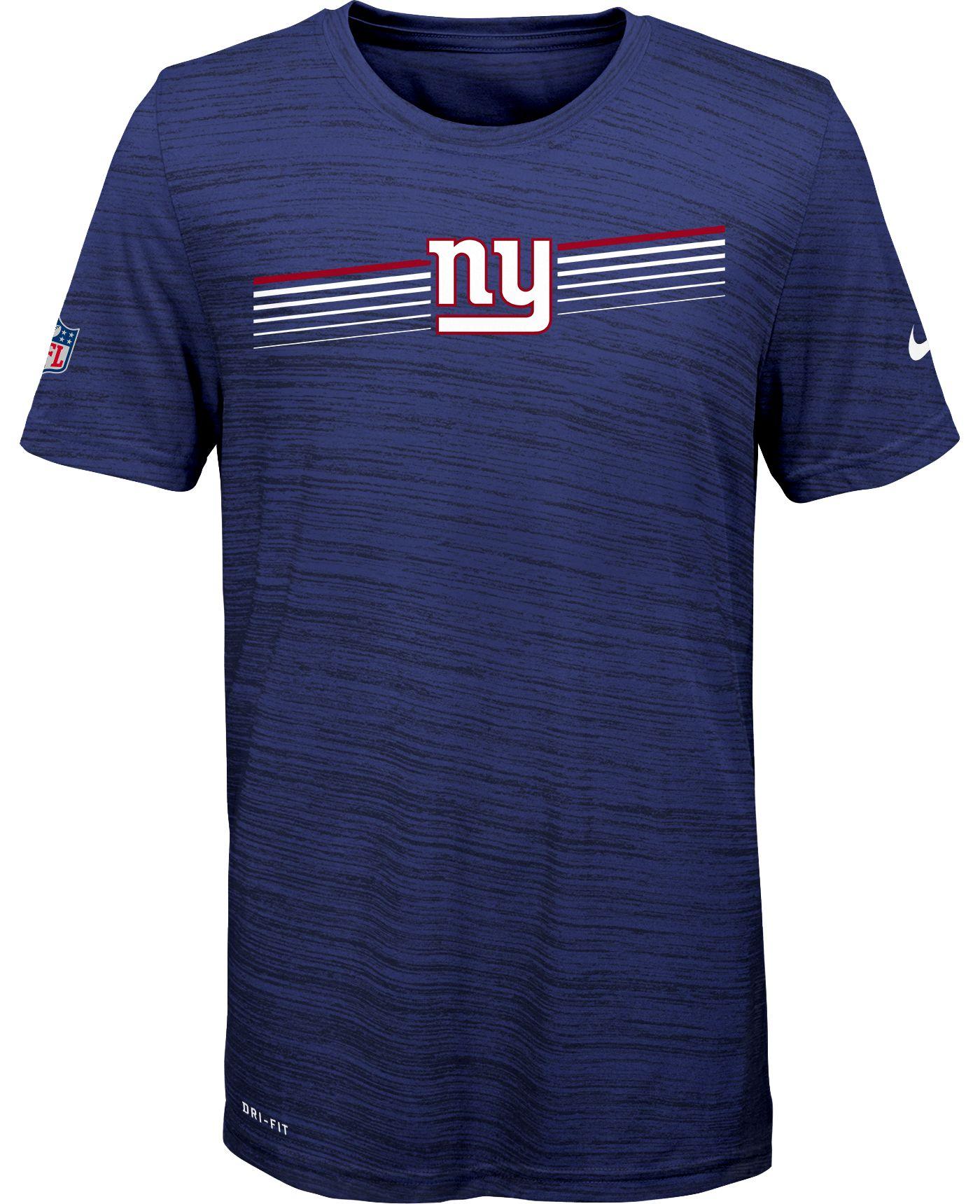 Nike Youth New York Giants Legend Velocity Performance Royal T-Shirt