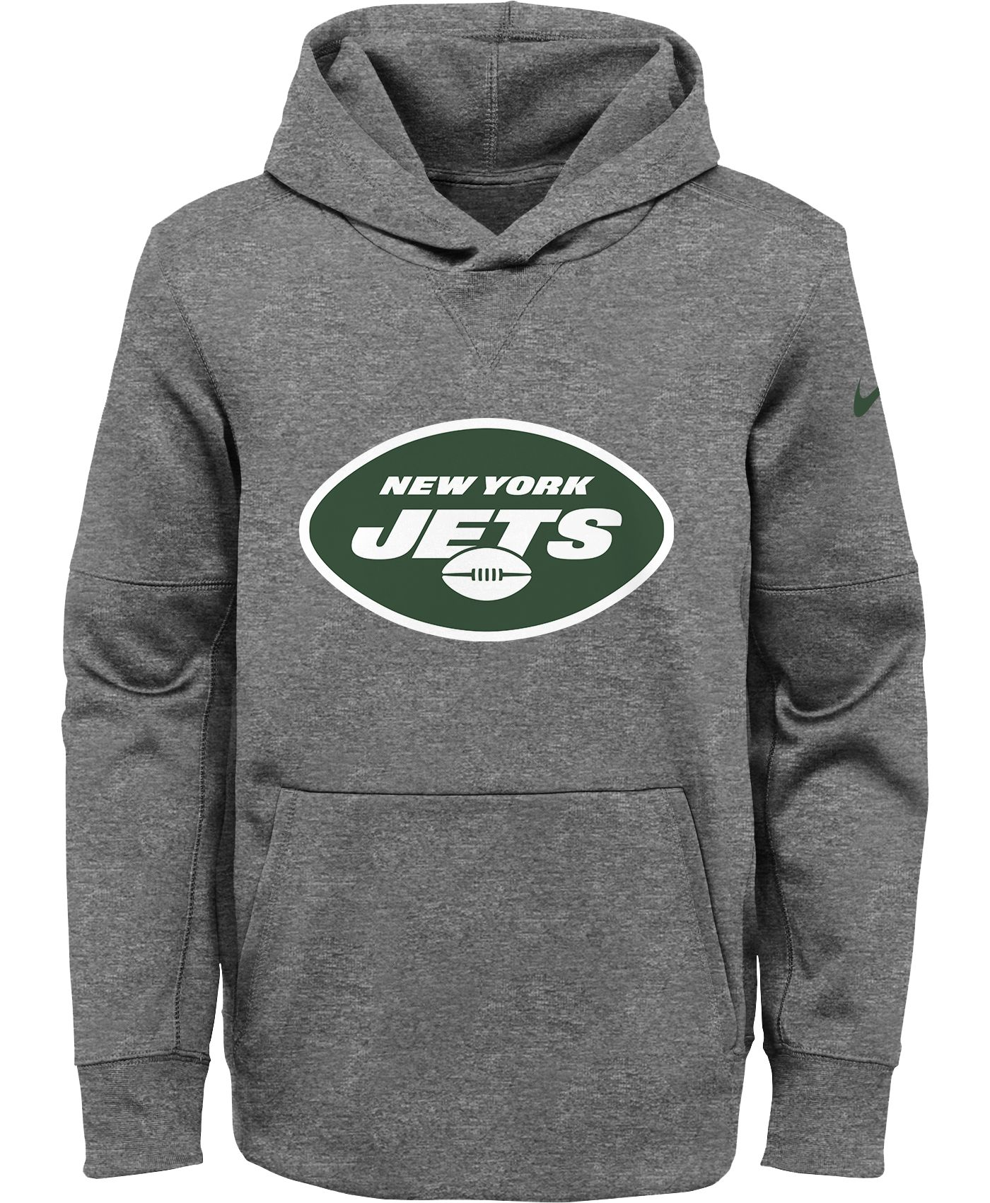 Nike Youth New York Jets Logo Essential Grey Hoodie