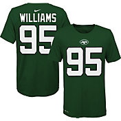 Nike Youth New York Jets Quinnen Williams #95 Logo Green T-Shirt