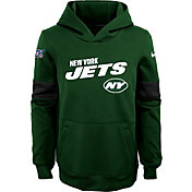 Nike Youth New York Jets 100th Sideline Therma-FIT Green Pullover Hoodie