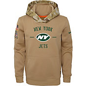Nike Youth Salute to Service New York Jets Therma-FIT Beige Hoodie
