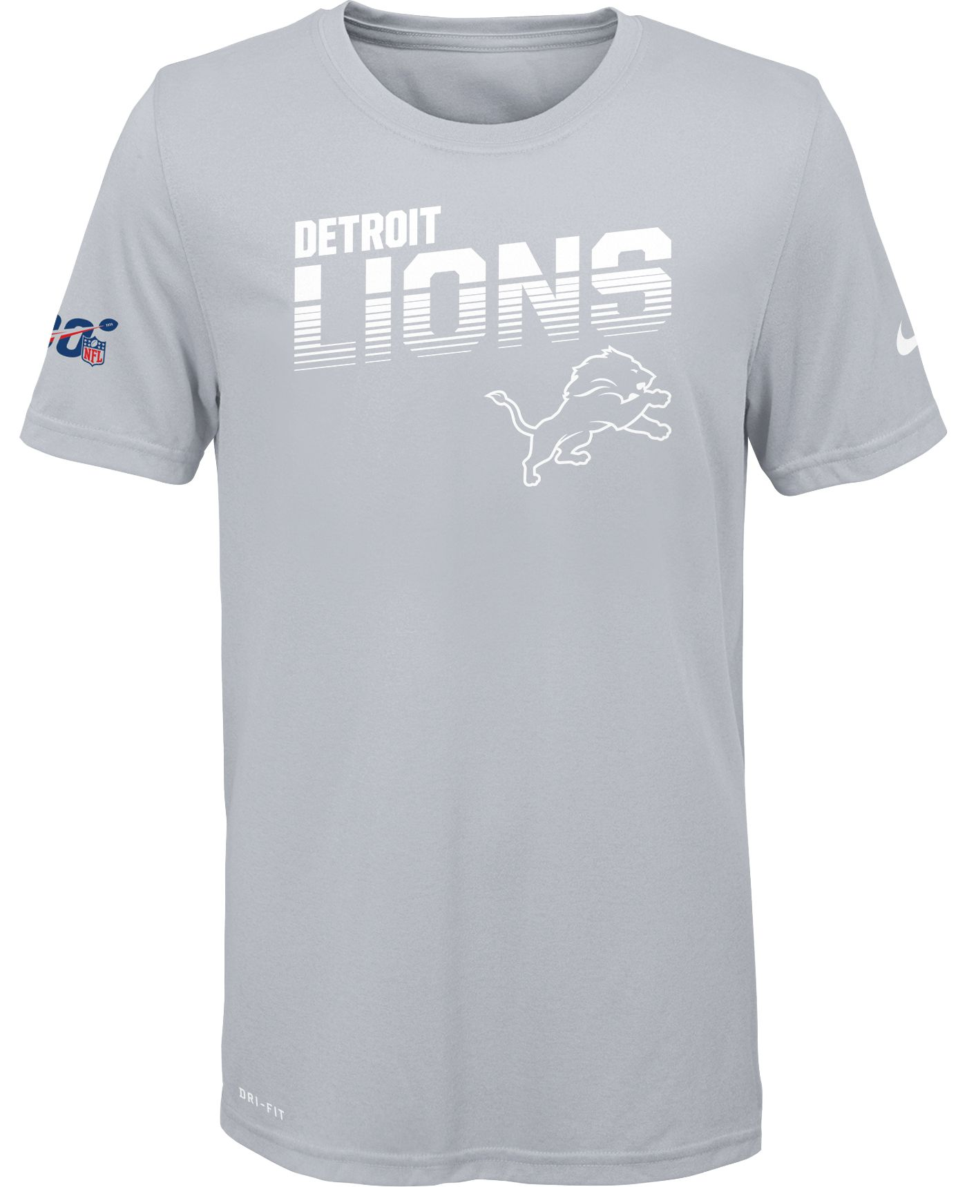 Nike Youth Detroit Lions 100th Sideline Legend Performance White T-Shirt