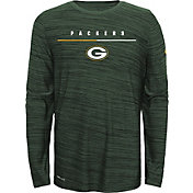 Nike Youth Green Bay Packers Sideline Legend Velocity Grey Long Sleeve Shirt