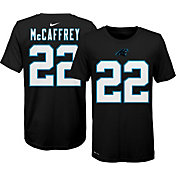 Nike Youth Carolina Panthers Christian McCaffrey #22 Logo Black T-Shirt