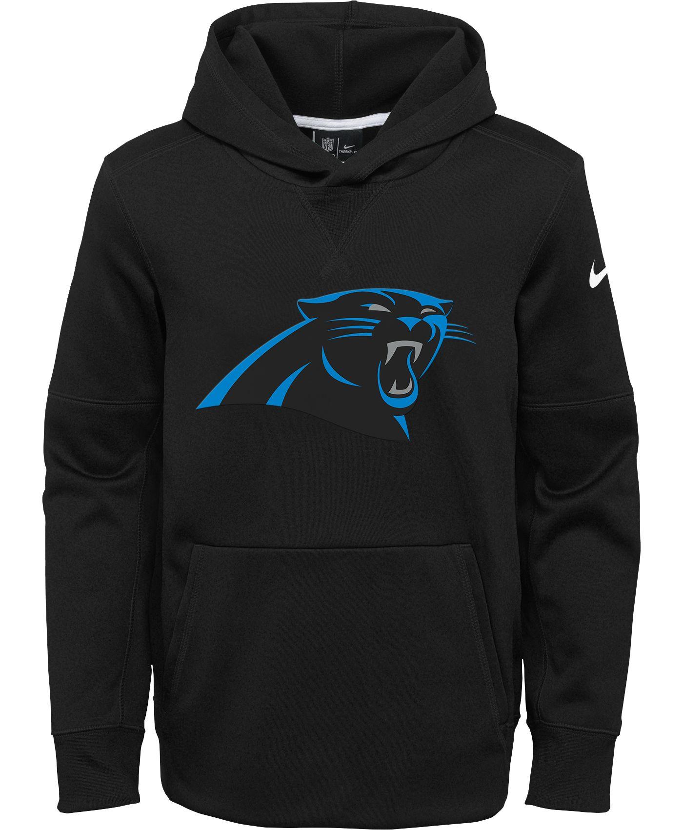 Nike Youth Carolina Panthers Logo Essential Black Hoodie