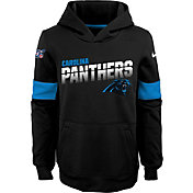 Nike Youth Carolina Panthers 100th Sideline Therma-FIT Black Pullover Hoodie