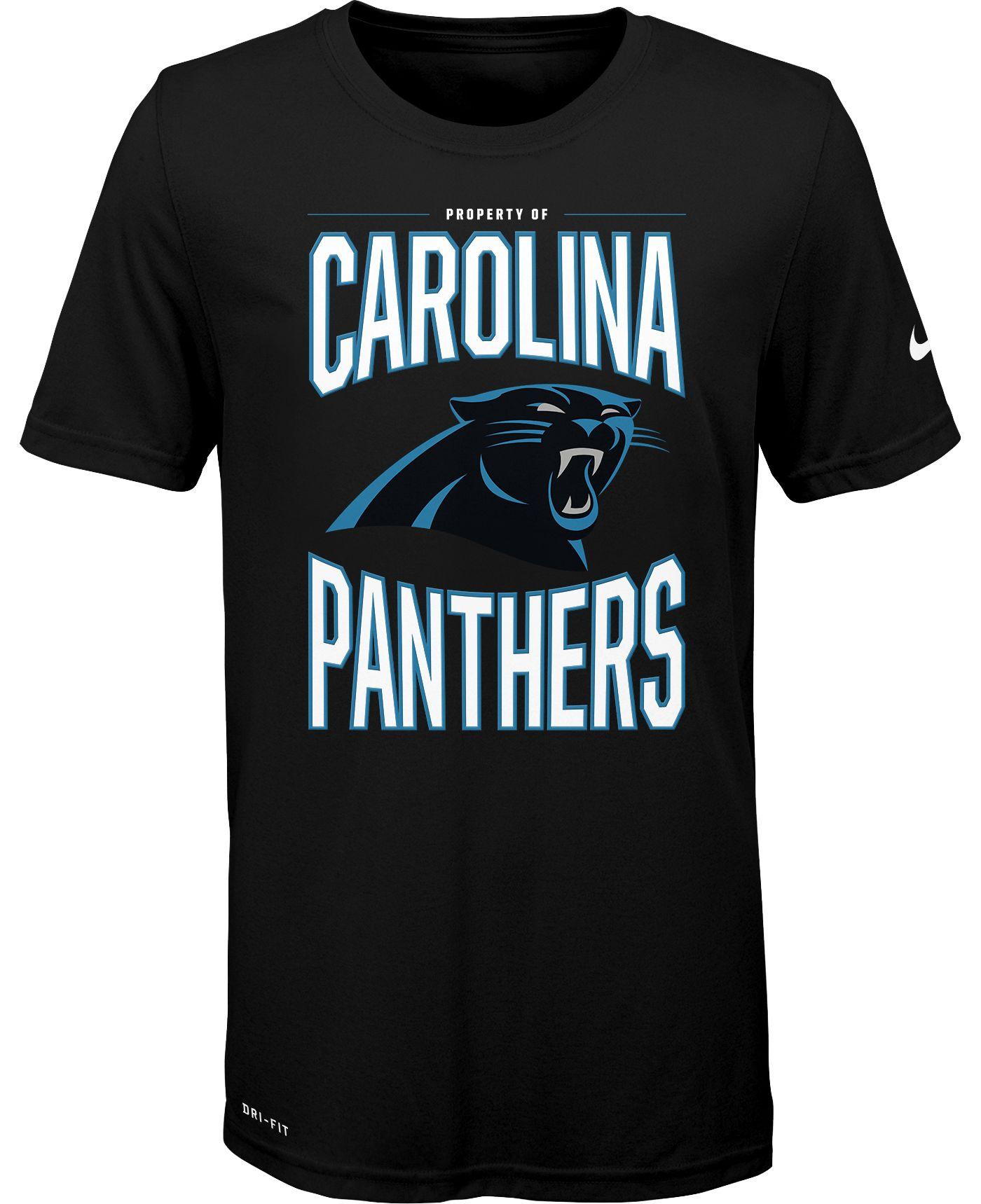 Nike Youth Carolina Panthers Sideline Property Of Black T-Shirt
