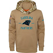 Nike Youth Salute to Service Carolina Panthers Therma-FIT Beige Camo Hoodie