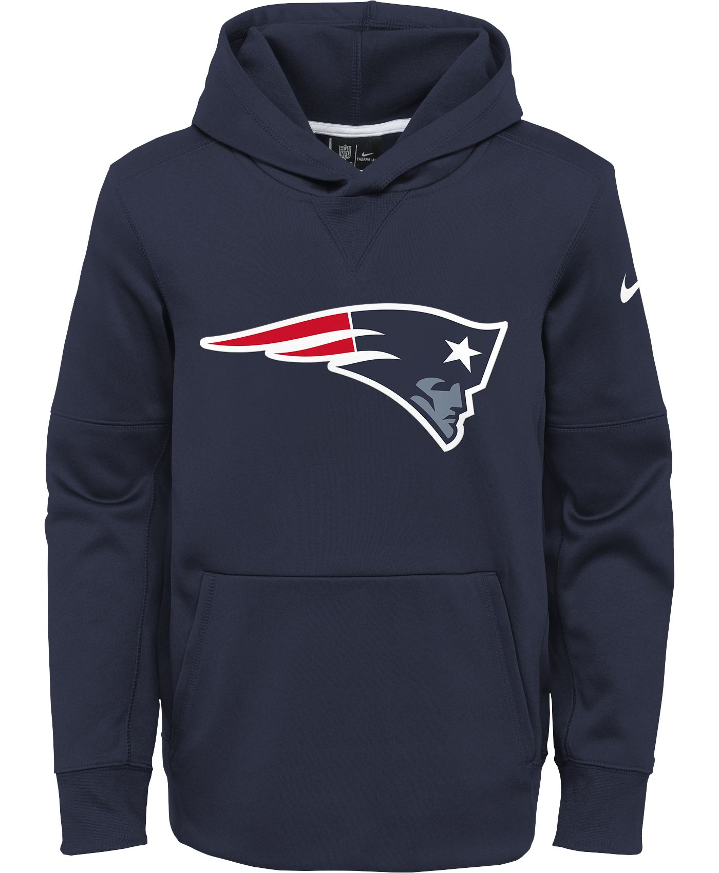 Nike Youth New England Patriots Logo Essential Navy Hoodie