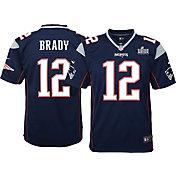 Nike Youth Super Bowl LIII Bound New England Patriots Tom Brady #12 Game Jersey