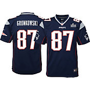 Nike Youth Super Bowl LIII Bound New England Patriots Rob Gronkowski #87 Game Jersey