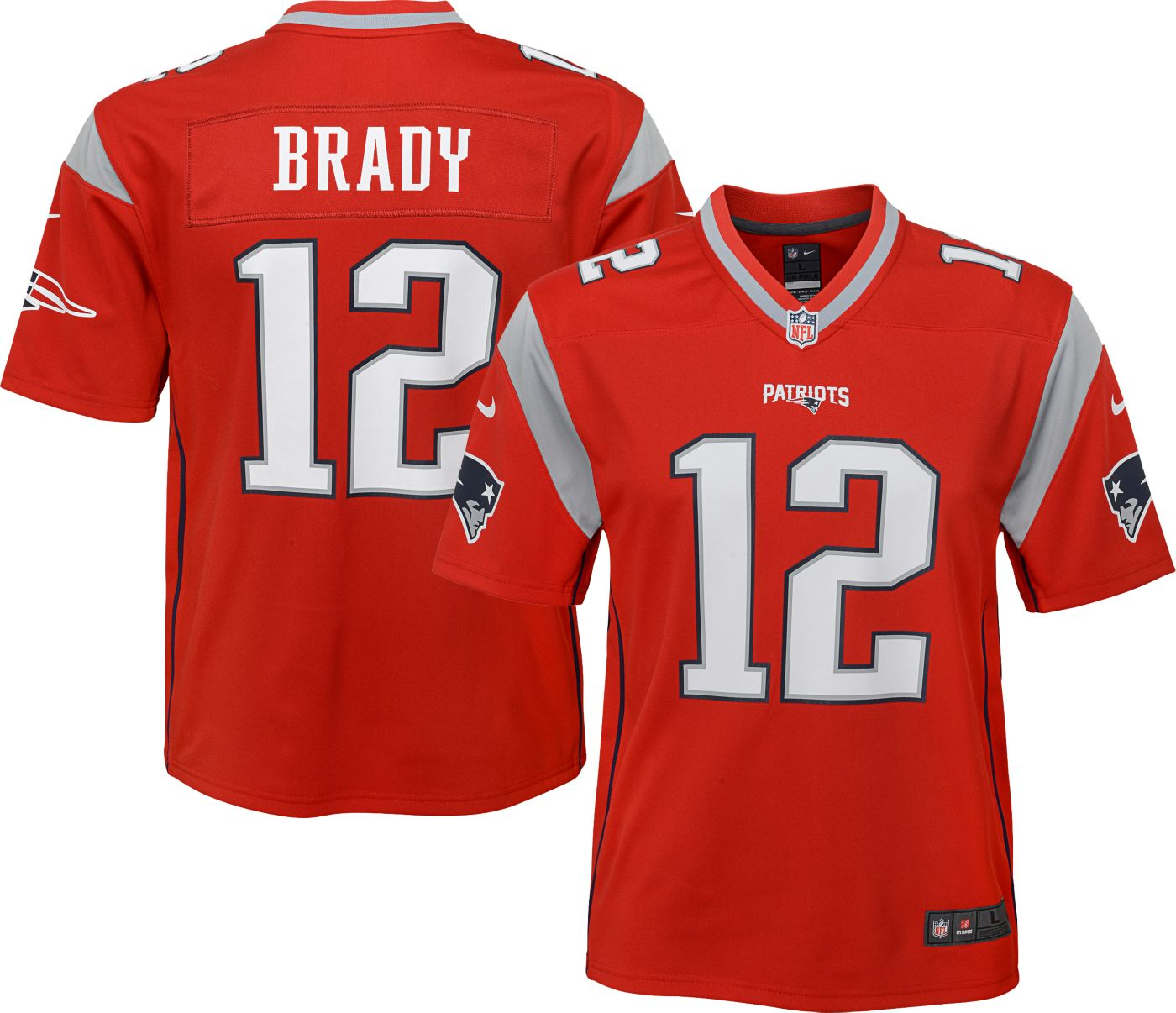 Nike Youth Alternate Legend Jersey New England Patriots Tom Brady #12