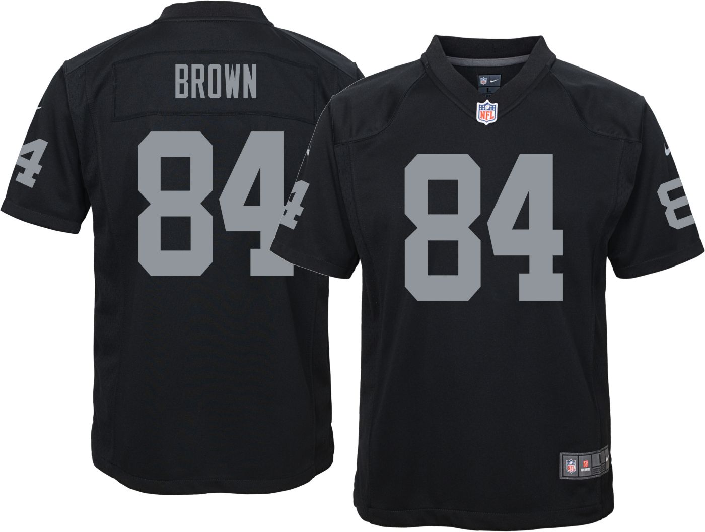 Antonio Brown #84 Nike Youth Oakland Raiders Home Game Jersey