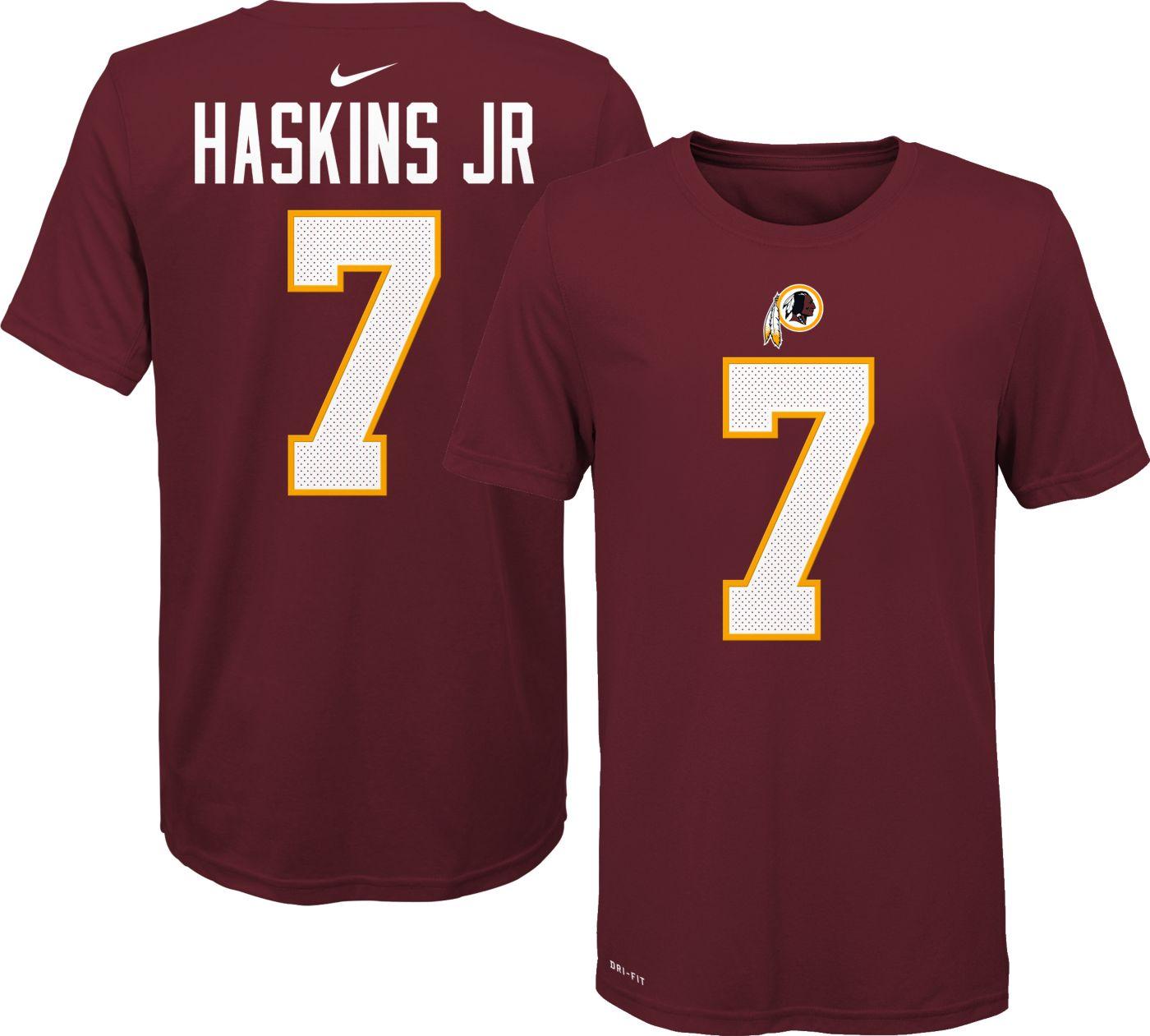 Nike Youth Washington Redskins Dwayne Haskins #7 Logo Red T-Shirt