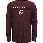Nike Youth Washington Redskins Sideline Legend Velocity Red Long Sleeve Shirt