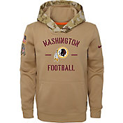 Nike Youth Salute to Service Washington Redskins Therma-FIT Beige Hoodie
