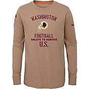 Nike Youth Salute to Service Washington Redskins Dri-FIT Beige Long Sleeve Shirt