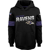 Nike Youth Baltimore Ravens 100th Sideline Therma-FIT Black Pullover Hoodie