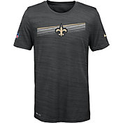 Nike Youth New Orleans Saints Legend Velocity Performance Black T-Shirt