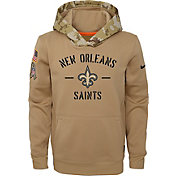 Nike Youth Salute to Service New Orleans Saints Therma-FIT Beige Camo Hoodie