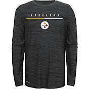 Nike Youth Pittsburgh Steelers Sideline Legend Velocity Grey Long Sleeve Shirt