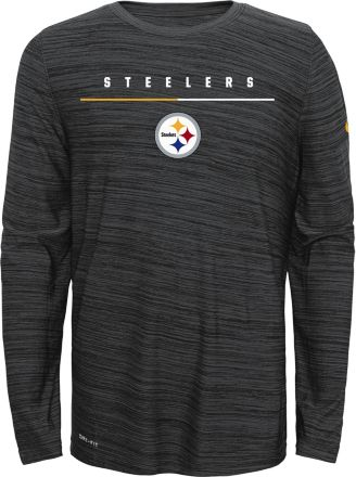 a1e3b9c5def33d Nike Youth Pittsburgh Steelers Sideline Legend Velocity Grey Long Sleeve  Shirt