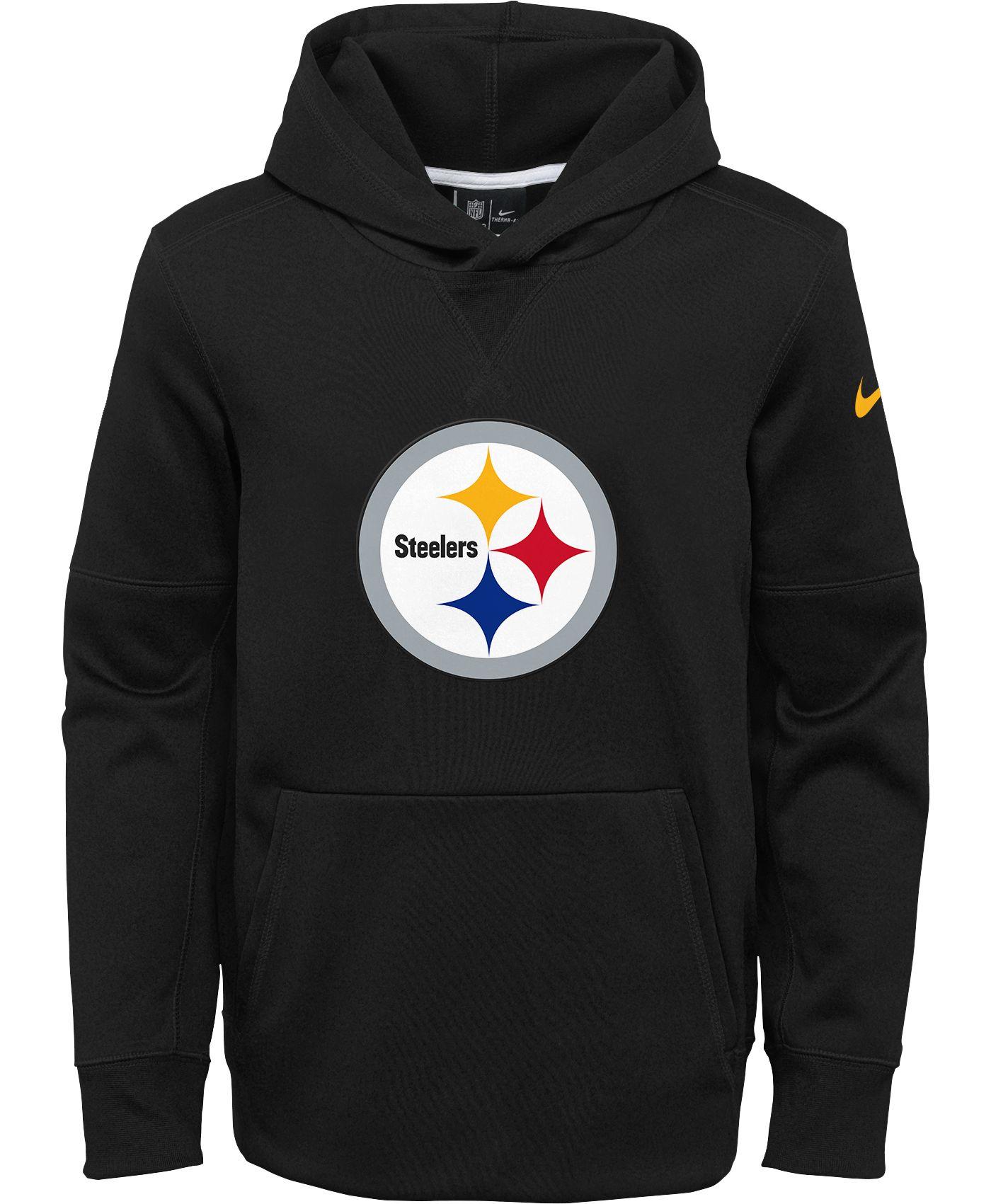 Nike Youth Pittsburgh Steelers Logo Essential Black Hoodie
