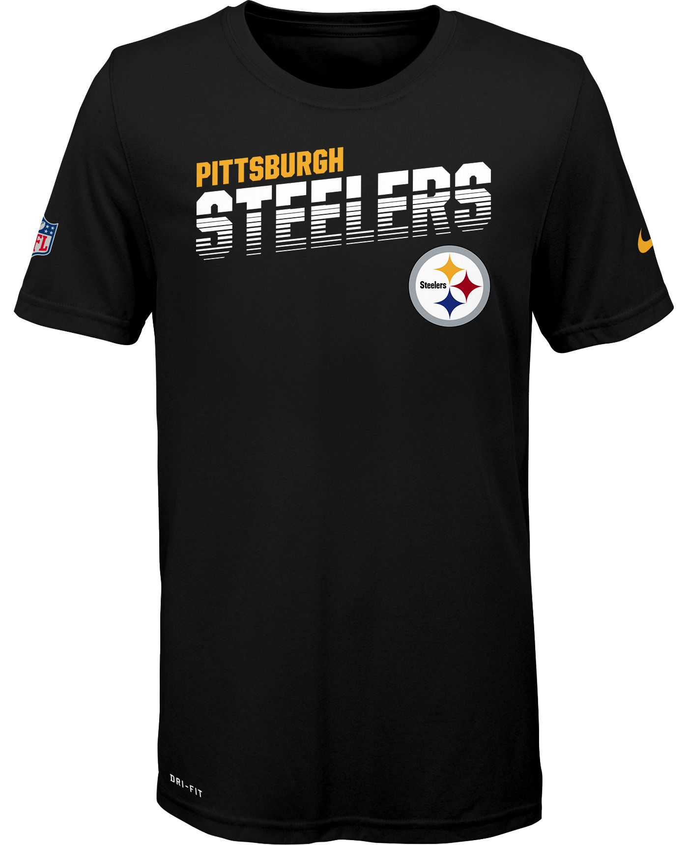 Nike Youth Pittsburgh Steelers Sideline Legend Performance Black T-Shirt