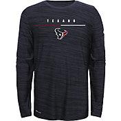 Nike Youth Houston Texans Sideline Legend Velocity Navy Long Sleeve Shirt