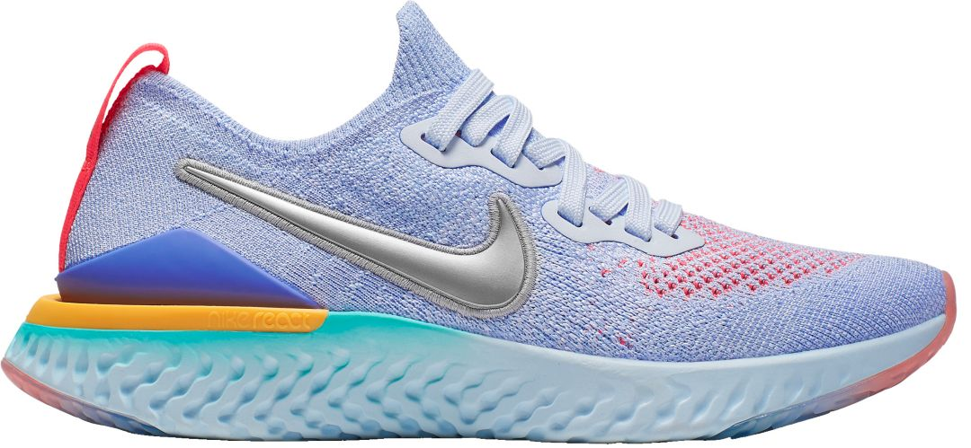 uk availability 9b5cc 6a9b9 Nike Kids' Grade School Epic React Flyknit 2 Running Shoes