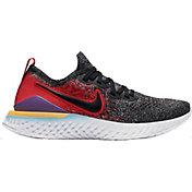 Nike Kids' Grade School Epic React Flyknit 2 Running Shoes in Black/University Red