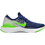 Nike Kids' Grade School Epic React Flyknit 2 Running Shoes in Coast Blue/Electric Green