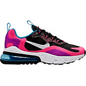 Nike Kids' Grade School Air Max 270 React Shoes in Black/White/Hyper Pink/Vivid Purple