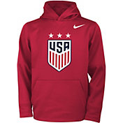 Nike Youth 2019 FIFA Women's World Cup USA Soccer Logo Red Pullover Hoodie