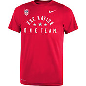 Nike Youth 2019 FIFA Women's World Cup USA Soccer One Team Red T-Shirt