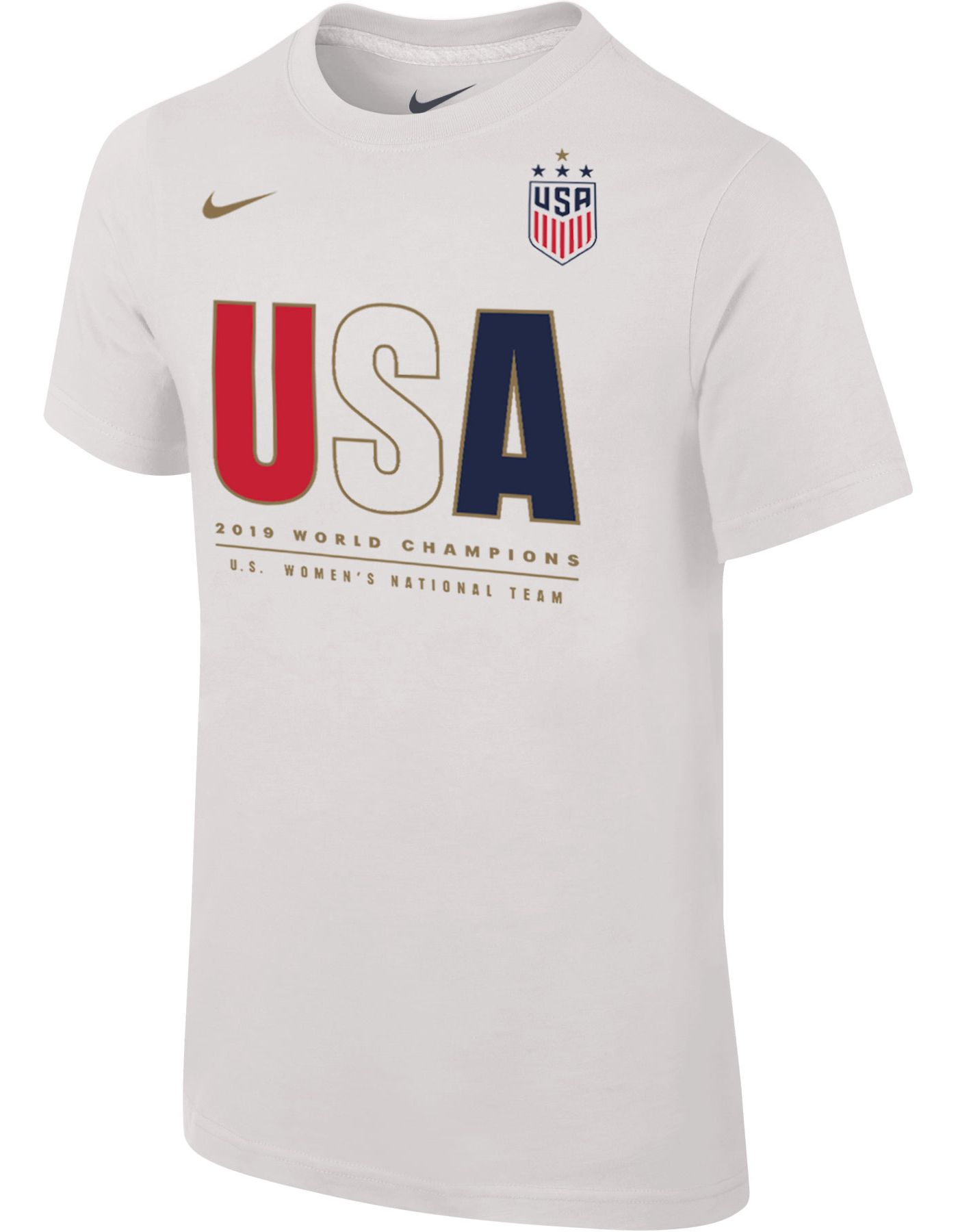 Nike Youth 2019 FIFA Women's World Cup Champions USA Soccer White T-Shirt