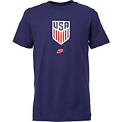 Nike Youth USA Soccer Crest Blue T-Shirt