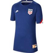 Nike Youth USA '20 Prematch Navy Performance Shirt